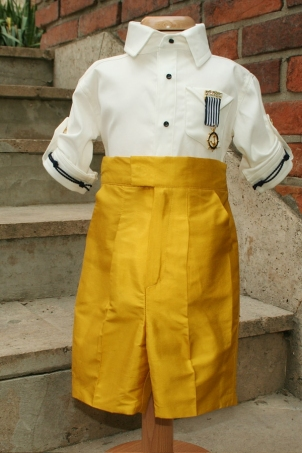 Little Captain gold- boy marine suit