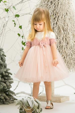 Quartz Rose - Elegant girl lace dress