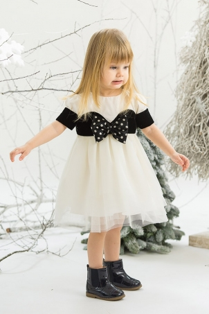 Black Diamond - Elegant baby girl dress