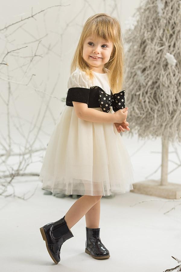 Black Diamond Elegant Baby Girl Dress