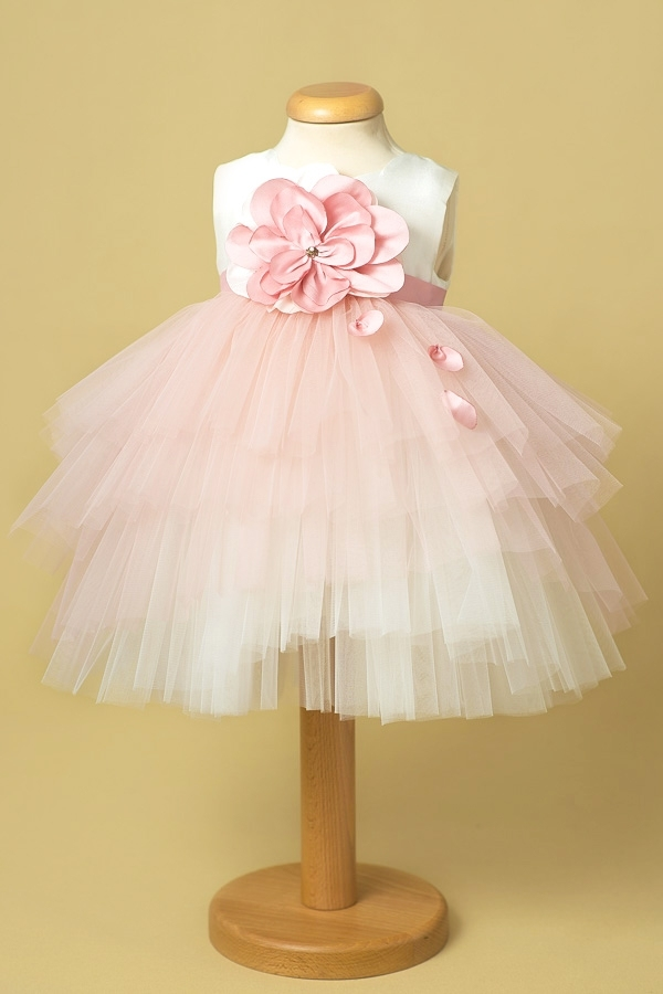 rose party dress for girls