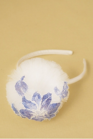 Flower Snowballs - Delicate headband for girls