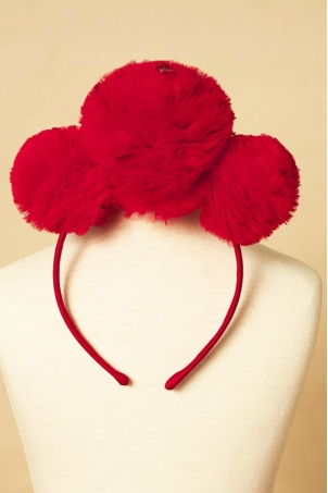 Red Snowballs - Girl headband