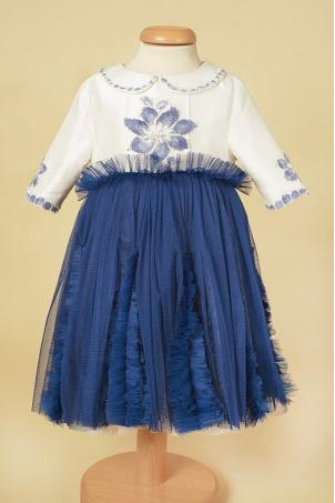 Blue Night and Day -  Baby girl tutu dress