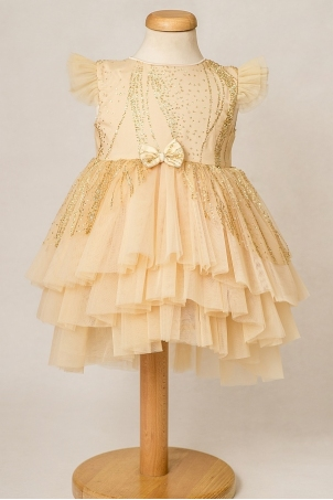 Little Stardust - Gold tutu dress for special occasions