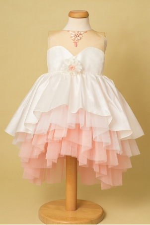Coral Necklace - Elegant train princess tutu dress