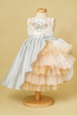 Coco - Extravagant hand painted girl dress