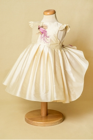 Bird of Paradis -  Special occasion hand painted dress