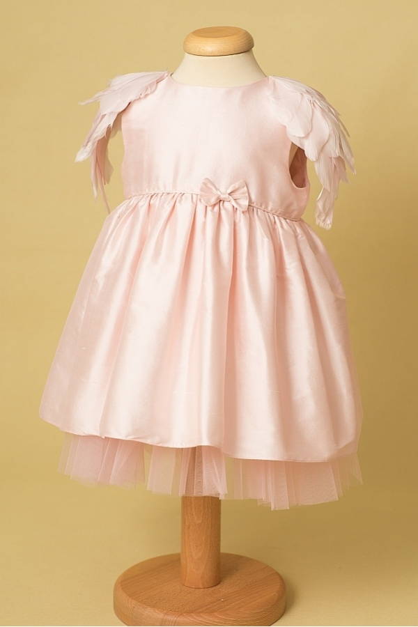 Pink Angel Delicate Silk Shantung Dress