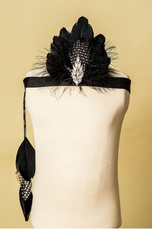 Black Swan - Feathers girl headband