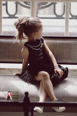 My Little Black Dress - Special occasion black feathers dress