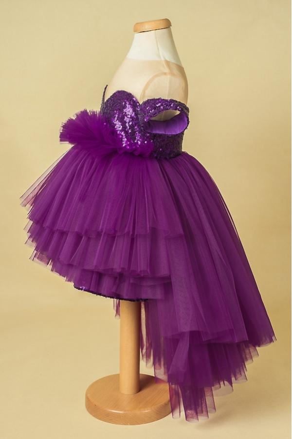 Purple Star Girl Tutu And Sequins Dress