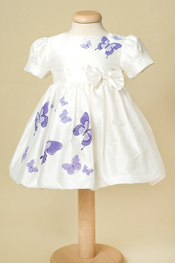 Purple Butterfly Aquarela Baby Hand Painted Dress