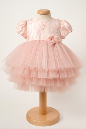 Ariel - Special occasion tutu dress with diaphanos layers of tulle and sparkling lace