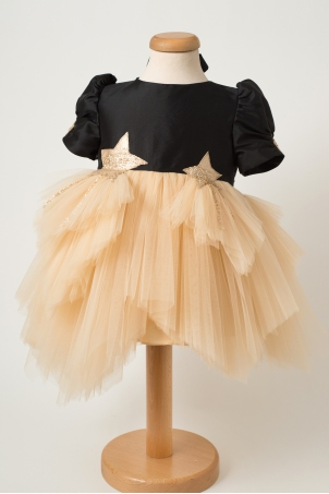 Twinkle Little Star - Special occasion dress with handcrafted  star details