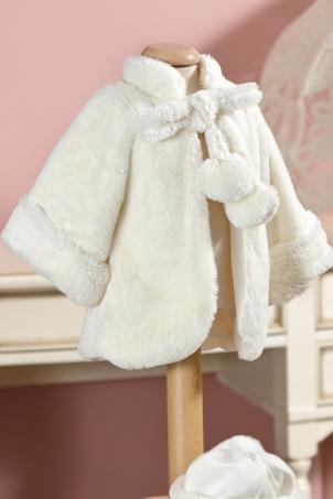 White Riding Hood - Ecological fur coat for girls