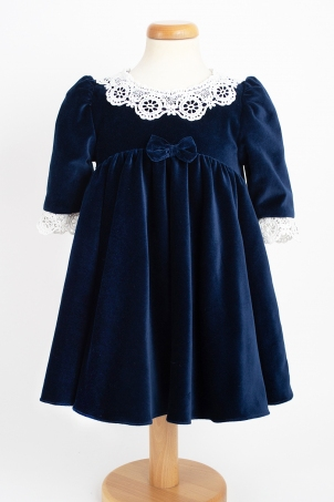 Louise - special occasion velvet dress