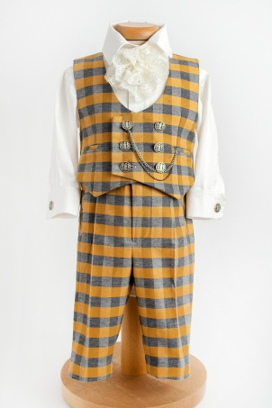 Golden Tweed - Chic suit for baby boys and toddlers
