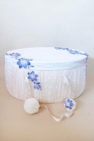 Flower Snowballs Trousseau - Christening Trousseau Box