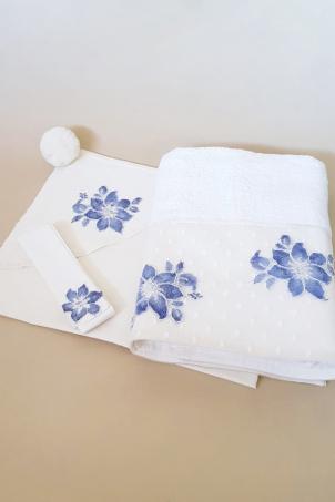 Flower Snowballs Trousseau - Christening Set for Babies
