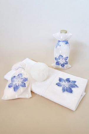Flower Snowballs Trousseau - Christening Priest Set