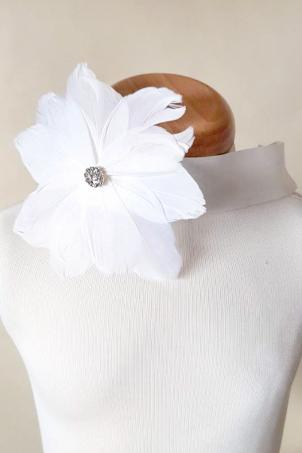 Flower Dove - Delicate girl headband