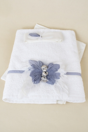 Silver Angel Trousseau -  Angel Christening Set for Babies
