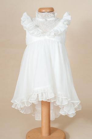 Audry - Delicate silk veil dress for girls