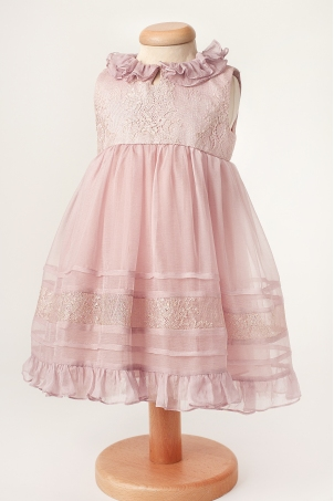 Jada - Special occasion boho chic silk & Chantilly lace dress