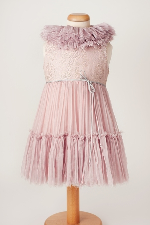 Keira - Elegant dress for special occasion with detachable collar