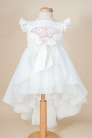 Paloma - Special occasion tutu dress with removable train