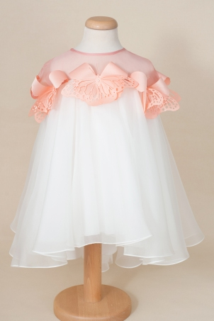 Fly Away with Me - Elegant dress for girls decorated with butterflies