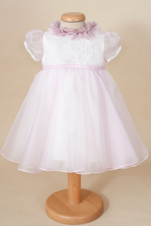 Blush - Baptism and special occasion silk organza pink dress