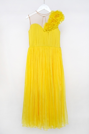 """Sunny Athena"" - Soft elegant dress for girls made of silk chiffon"