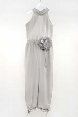 """In the City"" - elegant silk jumpsuit for girls"