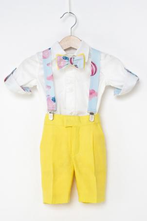 Bubbles - Linen funky suit for boys