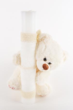 Teddy Bear - Christening Candle