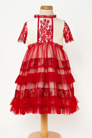 Philippa - Delicate lace and tulle dress