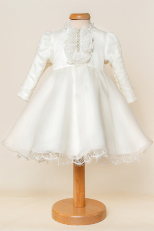 Duchesse -  Ivory Silk Organza Dress for little ballerinas