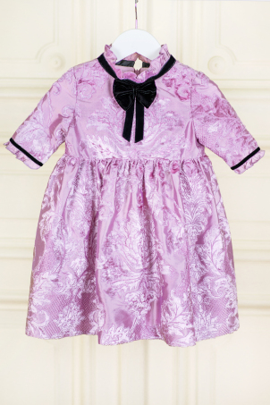 Violet - Cheerful dress for special occasions from silk shantung