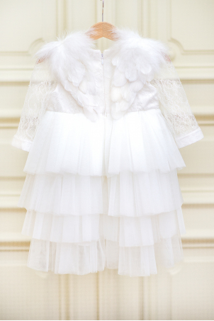Lace Ivory Angel - Delicate silk Chantilly dress