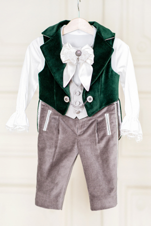 Emerald Velvet - Special Occasion velvet suit for boys