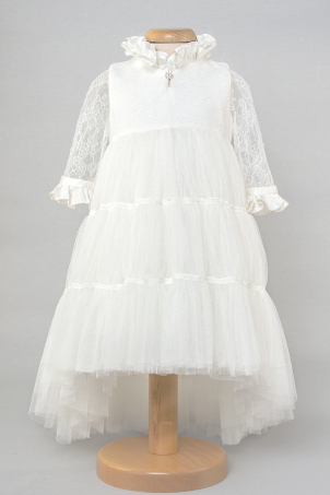 Summer Princess - Delicate dress with layers of soft tulle and ivory silk lace