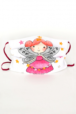 Protective Face Mask Reusable, 100% Cotton, Kids and Adults, FAIRYTALE