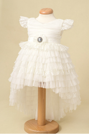 Cameo - Girl Tutu Ruffles Ivory Dress