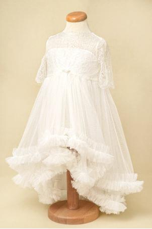 Delicate like snow - Princess ivory train dress