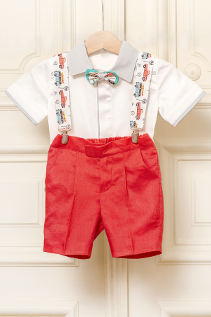 Vintage Cars - Funny summer suit for baby boys and toddlers