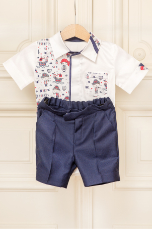 Little Pirates - Cheerful summer suit for baby boys and toddlers