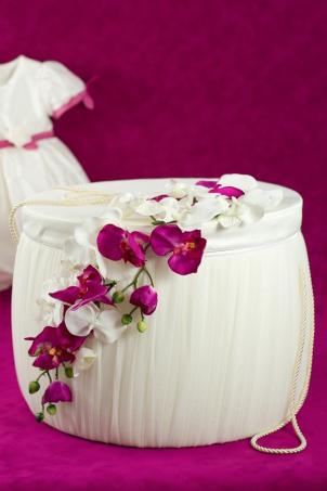 Orchid Trousseau - Christening Trousseau Box