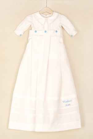 Ioan - Baby boy Christening outfit from delicate cotton and lace